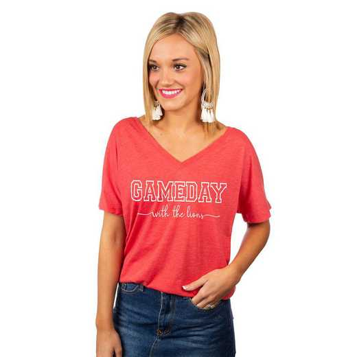 """Lions """"Long Live Weekend Vibes"""" Game Day V-Neck Tee by GameDay Couture"""