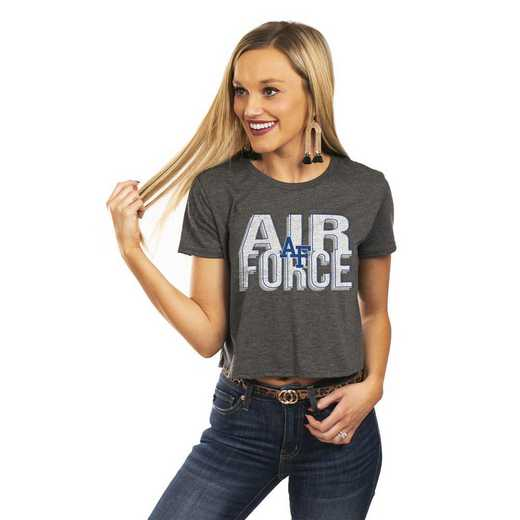 """Air Force Falcons """"Home Team Advantage"""" Vintage-vibe Crop Top By GameDay Couture"""