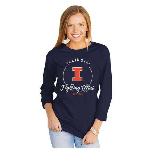 Illinois Fighting Illini It's Gameday Y'all Varsity Crew Top by Gameday Couture