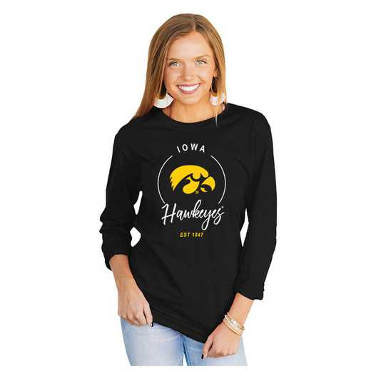 Iowa Hawkeyes It's Gameday Y'all Varsity Crew Top by Gameday Couture