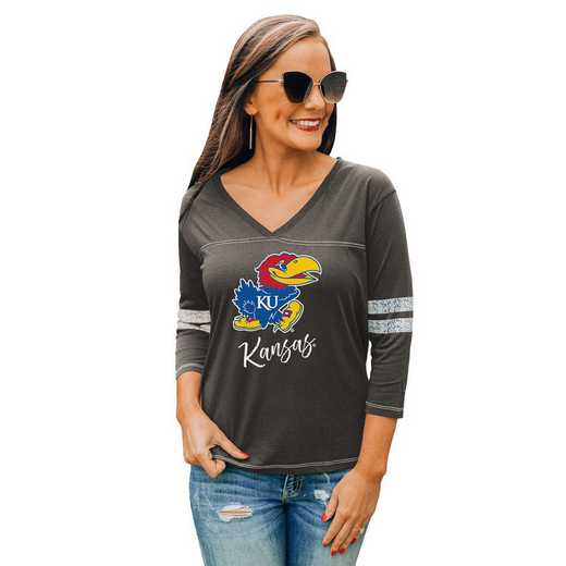 Kansas Jayhawks Catch A Vibe Tee by Gameday Couture