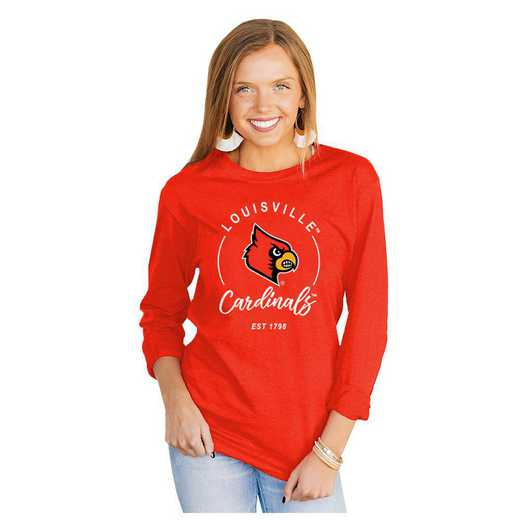 Louisville Cardinals It's Gameday Y'all Varsity Crew Top by Gameday Couture