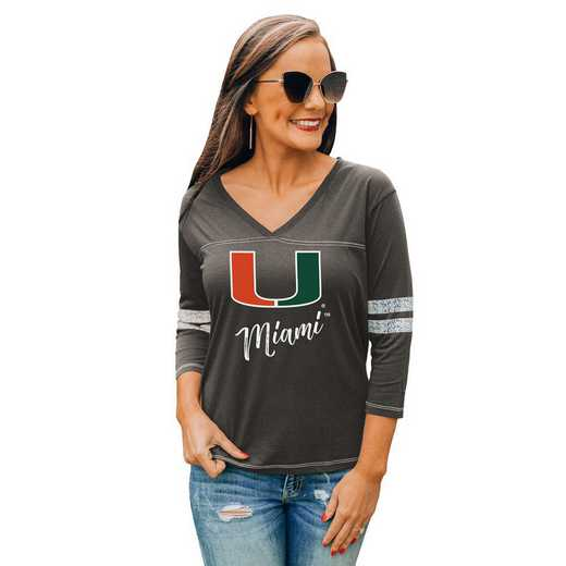 Miami Hurricanes Catch A Vibe Tee by Gameday Couture