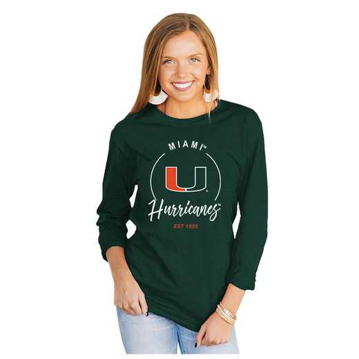 Miami Hurricanes It's Gameday Y'all Varsity Crew Top by Gameday Couture