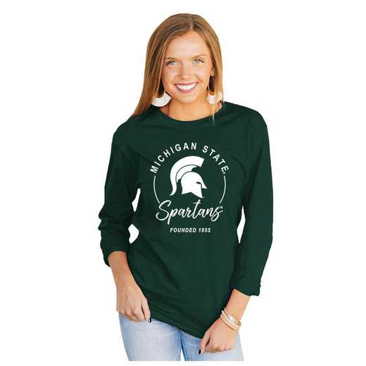 Michigan State Spartans It's Gameday Y'all Varsity Crew Top by Gameday Couture
