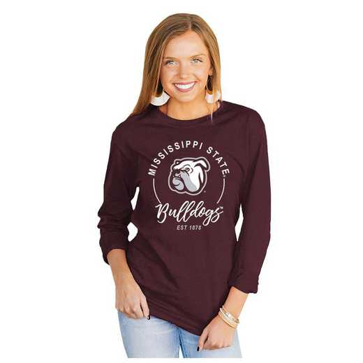Mississippi State Bulldogs It's Gameday Y'all Varsity Crew Top by Gameday Couture