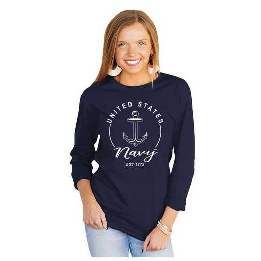 Navy Midshipmen It's Gameday Y'all Varsity Crew Top by Gameday Couture