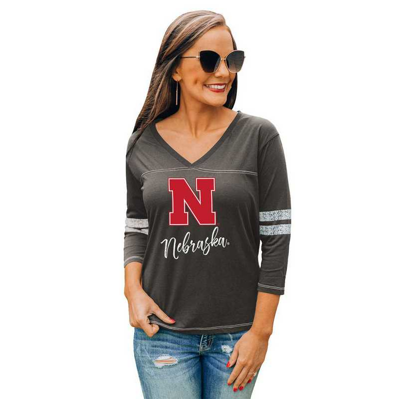 Nebraska Cornhuskers Catch A Vibe Tee by Gameday Couture