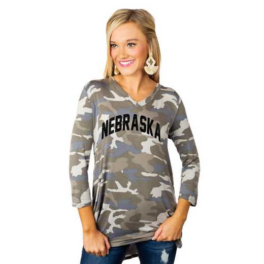 "Nebraska Cornhuskers ""Hidden Treasures"" Camo Tunic By Gameday Couture"