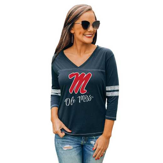 Mississippi Ole Miss Catch A Vibe Tee by Gameday Couture