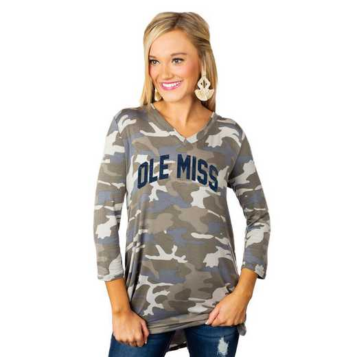 "Mississippi Ole Miss ""Hidden Treasures"" Camo Tunic By Gameday Couture"