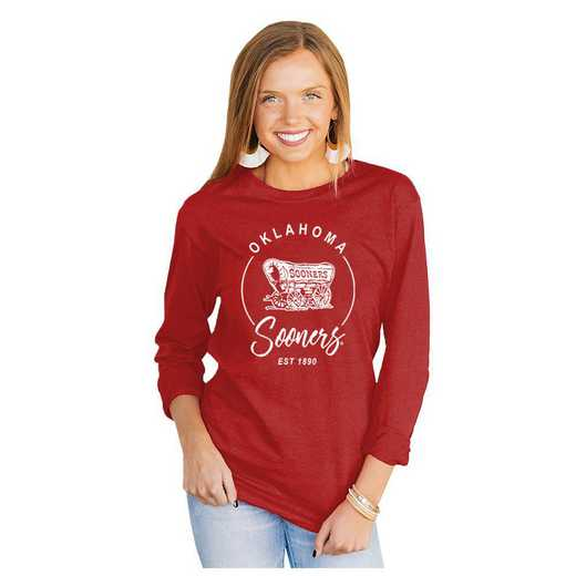 Oklahoma Sooners It's Gameday Y'all Varsity Crew Top by Gameday Couture