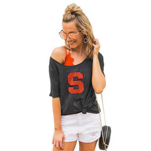 """Syracuse Orange """"Vibing with you"""" Boyfriend Tee by Gameday Couture"""