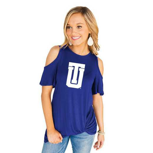 Tulsa Golden Hurricane Get Twisted Cold Shoulder Twist Top by Gameday Couture