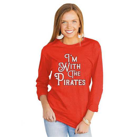 """Pirates """"For the Home Team"""" Red Tee  By Gameday Couture"""