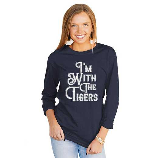 """Tigers """"For the Home Team"""" Navy Tee  By Gameday Couture"""
