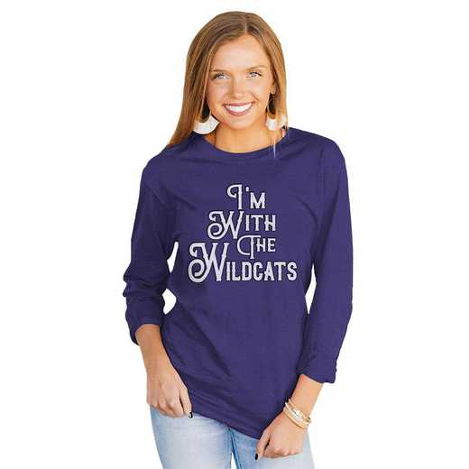 """Wildcats """"For the Home Team"""" Royal Tee  By Gameday Couture"""
