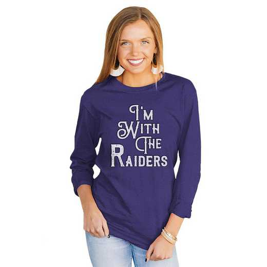 """Raiders """"For the Home Team"""" Royal Tee  By Gameday Couture"""