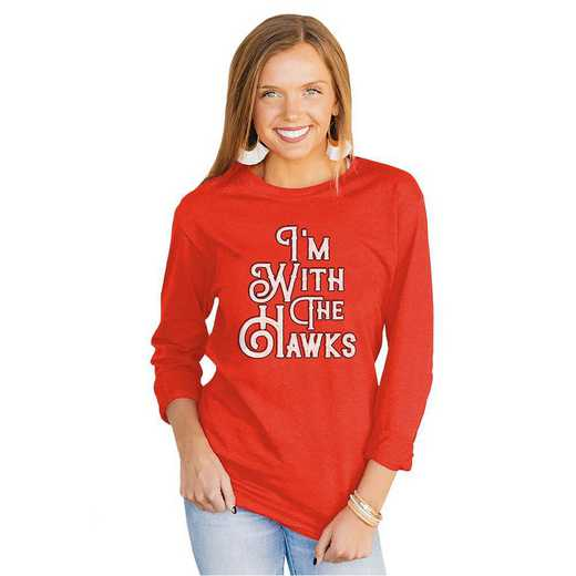 """Hawks """"For the Home Team"""" Red Tee  By Gameday Couture"""