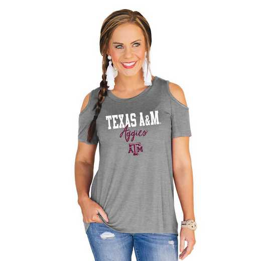 Texas A&M Aggies Forever a Fan Cold Shoulder Top by Gameday Couture