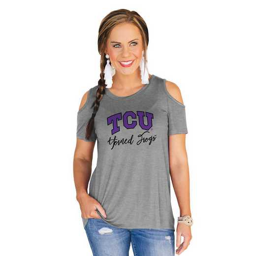 Texas Christian University Horned Frogs Forever a Fan Cold Shoulder Top by Gameday Couture