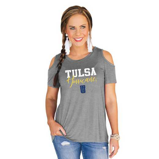 Tulsa Golden Hurricane Forever a Fan Cold Shoulder Top by Gameday Couture