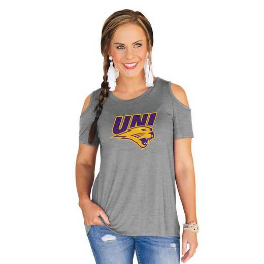Northern Iowa Panthers Forever a Fan Cold Shoulder Top by Gameday Couture