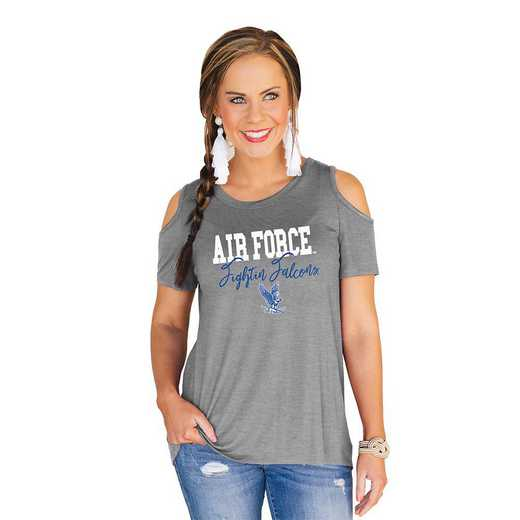 Air Force Falcons Forever a Fan Cold Shoulder Top by Gameday Couture
