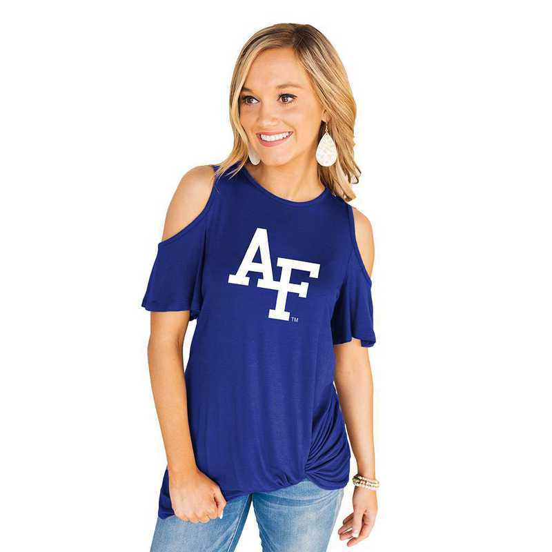 Air Force Falcons Get Twisted Cold Shoulder Twist Top by Gameday Couture