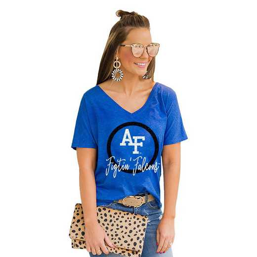 Air Force Falcons Long Live Weekend Vibes V-Neck Tee by Gameday Couture