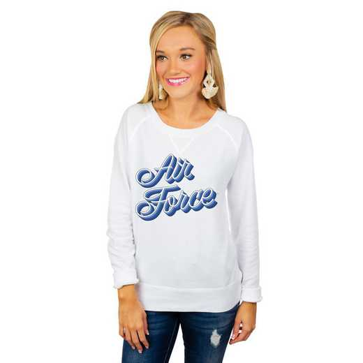 """Air Force Falcons """"Casually Cute"""" French Terry Pullover By Gameday Couture"""