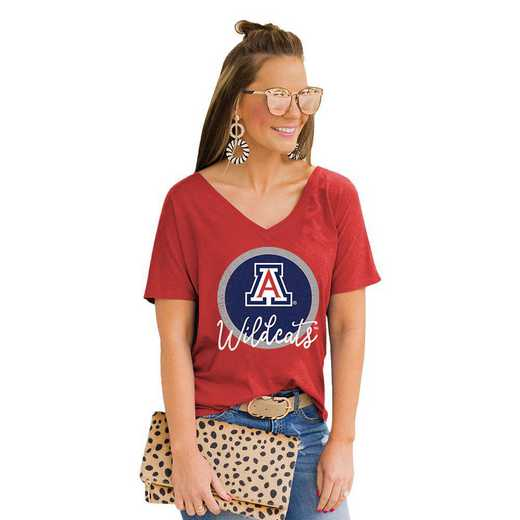 Arizona Wildcats Long Live Weekend Vibes V-Neck Tee by Gameday Couture