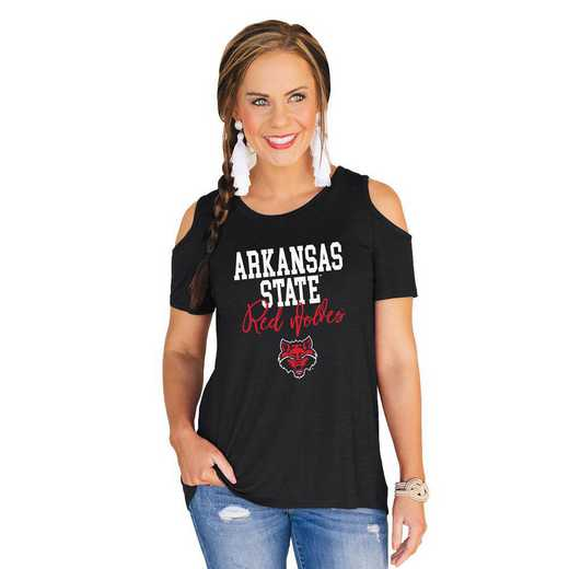 Arkansas State Red Wolves Forever a Fan Cold Shoulder Top by Gameday Couture