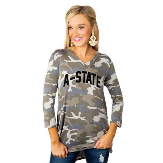 "Arkansas State Red Wolves ""Hidden Treasures"" Camo Tunic By Gameday Couture"