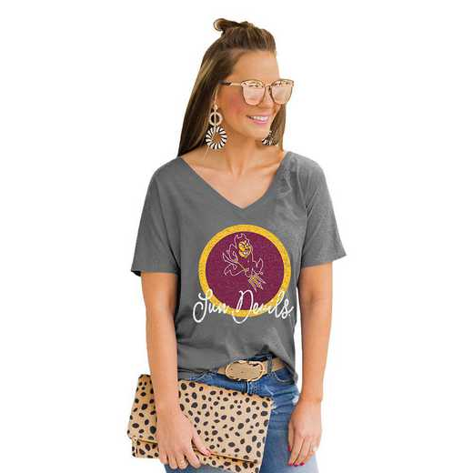 Arizona Sun Devils Long Live Weekend Vibes V-Neck Tee by Gameday Couture