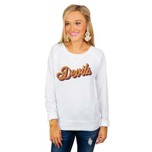 "Arizona Sun Devils ""Casually Cute"" French Terry Pullover By Gameday Couture"