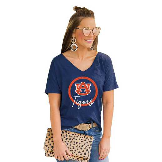 Auburn Tigers Long Live Weekend Vibes V-Neck Tee by Gameday Couture