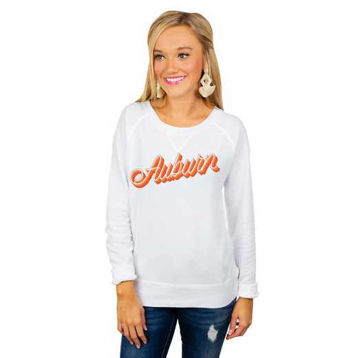 """Auburn Tigers """"Casually Cute"""" French Terry Pullover By Gameday Couture"""