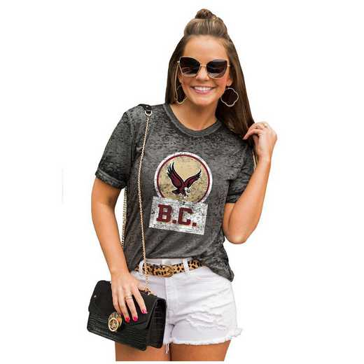 Boston College Eagles Let The Good Vibes Roll Tee by Gameday Couture