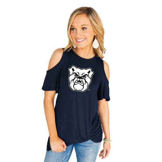 Butler Bulldogs Get Twisted Cold Shoulder Twist Top by Gameday Couture