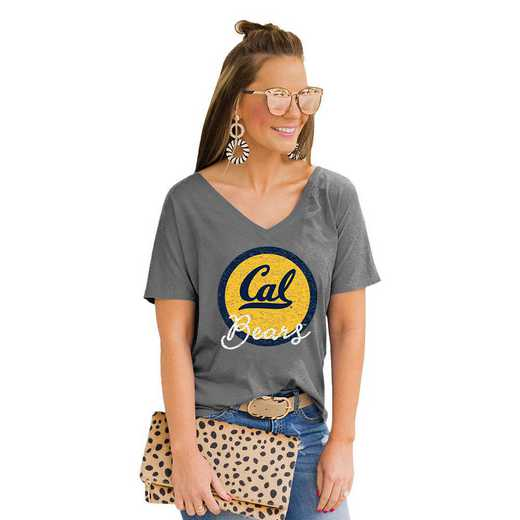 California Golden Bears Long Live Weekend Vibes V-Neck Tee by Gameday Couture