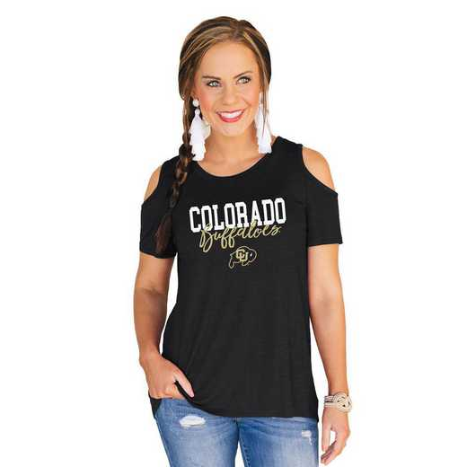 Colorado Buffaloes Forever a Fan Cold Shoulder Top by Gameday Couture