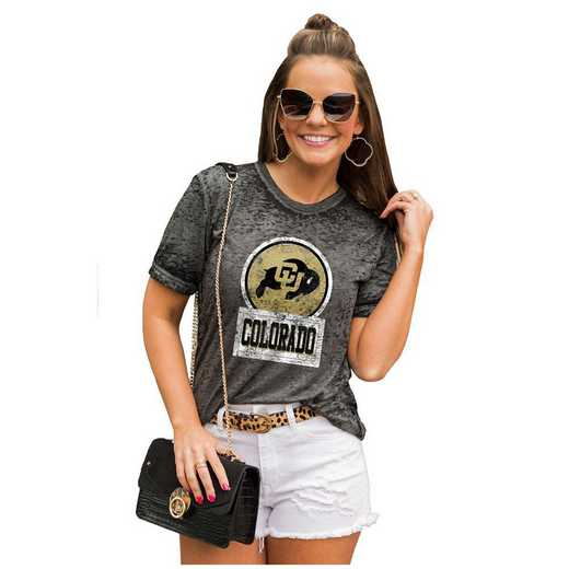 Colorado Buffaloes Let The Good Vibes Roll Tee by Gameday Couture