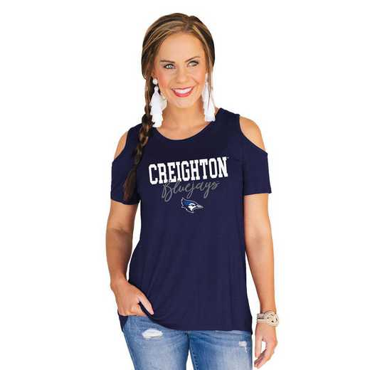 Creighton University Bluejays Forever a Fan Cold Shoulder Top by Gameday Couture