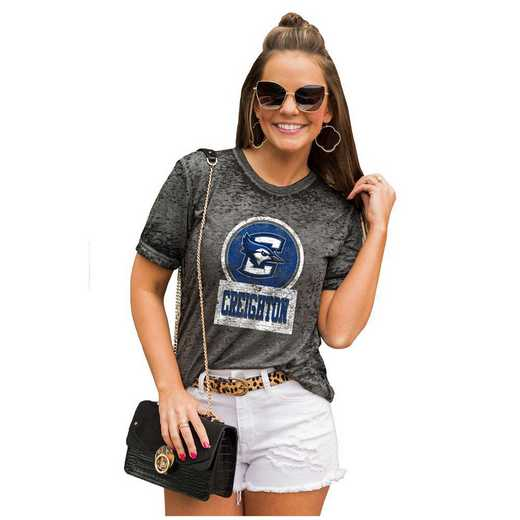 Creighton University Bluejays Let The Good Vibes Roll Tee by Gameday Couture