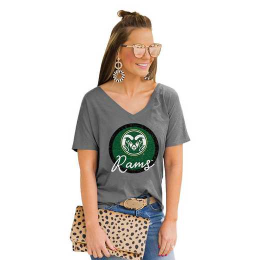 Colorado State Rams Long Live Weekend Vibes V-Neck Tee by Gameday Couture
