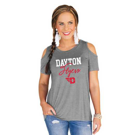 Dayton Flyers Forever a Fan Cold Shoulder Top by Gameday Couture