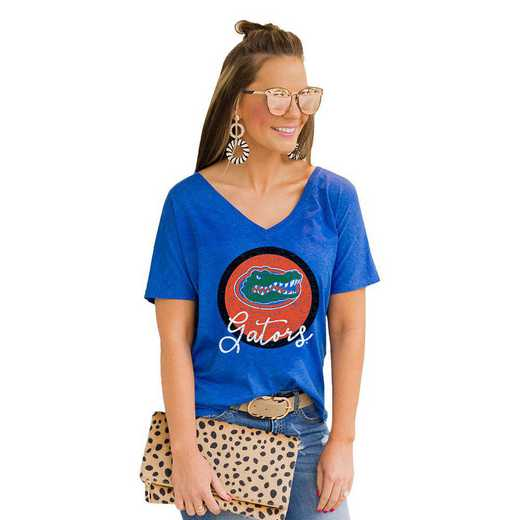 Florida Gators Long Live Weekend Vibes V-Neck Tee by Gameday Couture