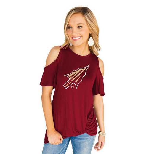 Florida State Seminoles Get Twisted Cold Shoulder Twist Top by Gameday Couture