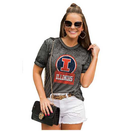 Illinois Fighting Illini Let The Good Vibes Roll Tee by Gameday Couture